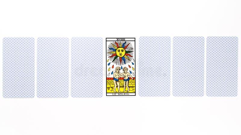 Tarot karty słońca remis fotografia royalty free
