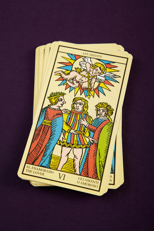Tarot l'amoureux image libre de droits