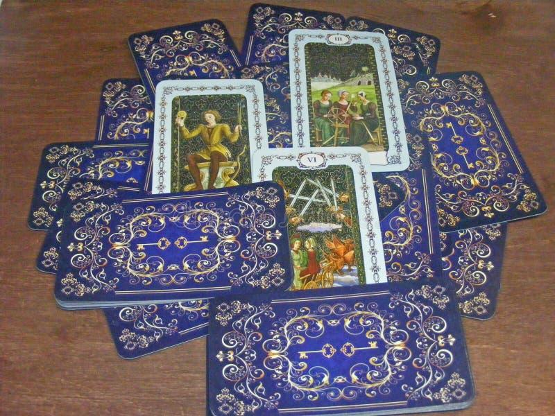 Tarot in middeleeuwse uitstekende stijl stock foto's