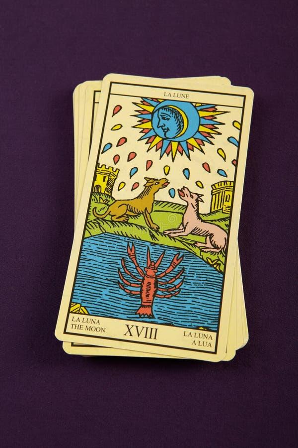 Tarot The Moon Stock Images