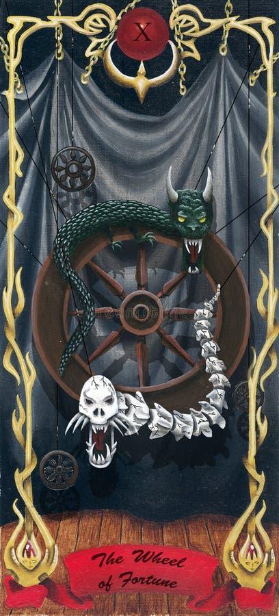 Tarot a roda de fortuna ilustração do vetor