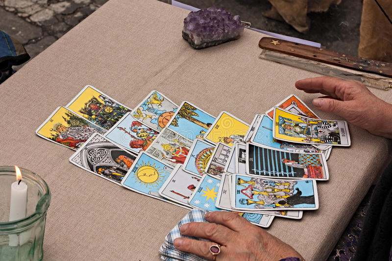 Tarots czytelnicze karty fotografia royalty free