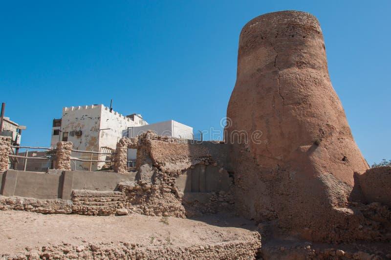 Tarout rockerar befästningar, den Tarout ön, Saudiarabien royaltyfri fotografi
