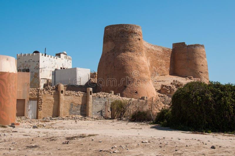 Tarout slotts befästningar, Tarout ö, Saudiarabien arkivfoto