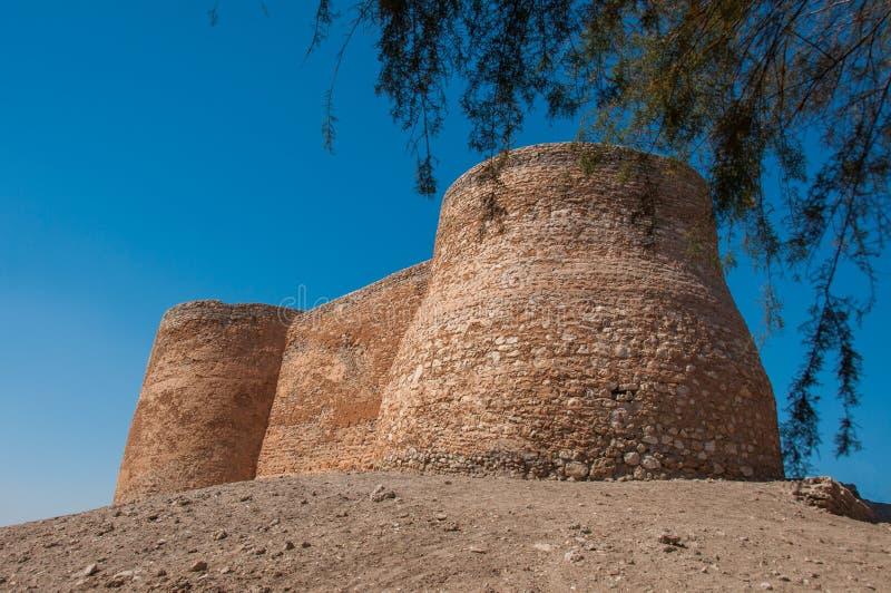Tarout slotts befästningar, Tarout ö, Saudiarabien arkivbild