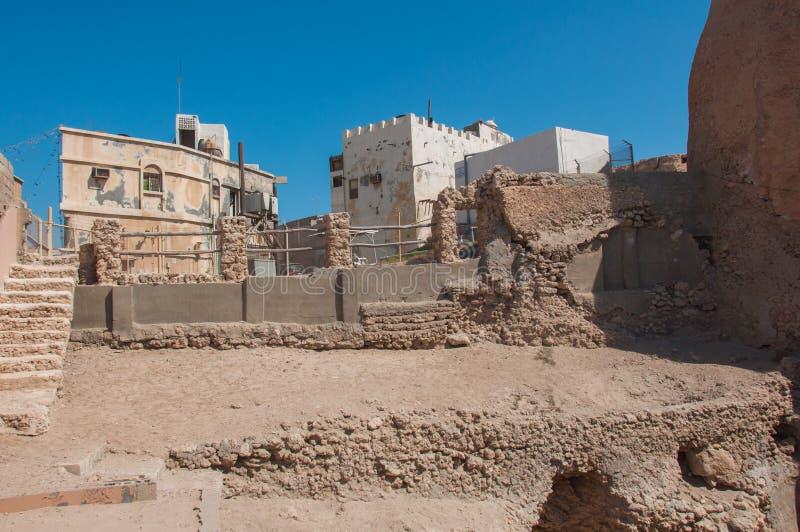 Tarout slotts befästningar, Tarout ö, Saudiarabien royaltyfria foton