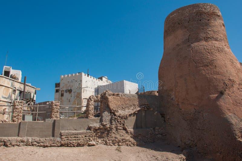 Tarout slotts befästningar, Tarout ö, Saudiarabien royaltyfri bild
