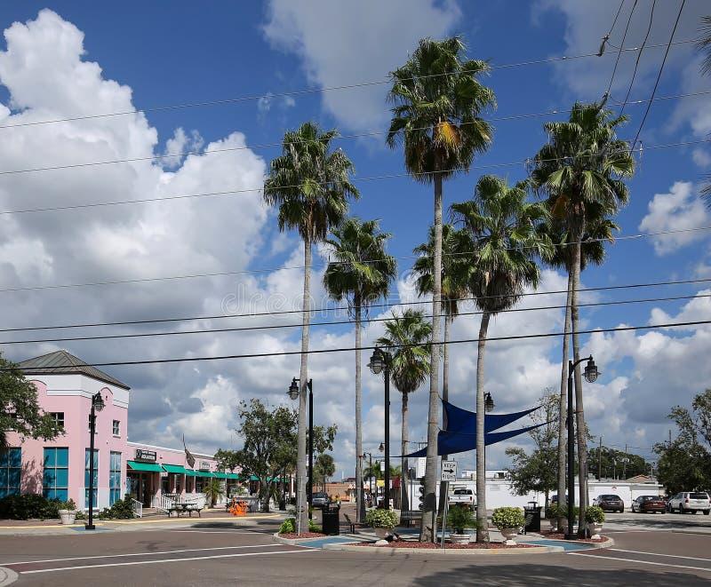 Tarpon Springs Florida famosa per gli operatori subacquei greci della spugna fotografia stock libera da diritti