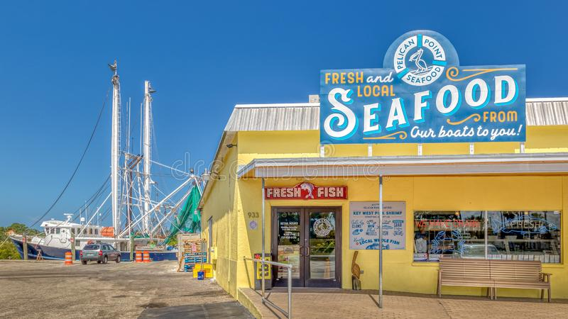 TARPON SPRINGS, FLORIDA - JUNE 30, 2019: Sponge capital of the world and historic Greek town on the Gulf of Mexico royalty free stock image