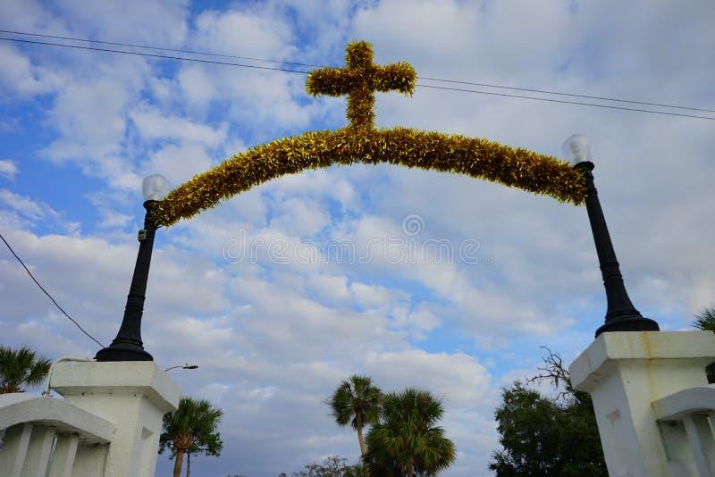 Tarpon wiosny kościół obraz royalty free
