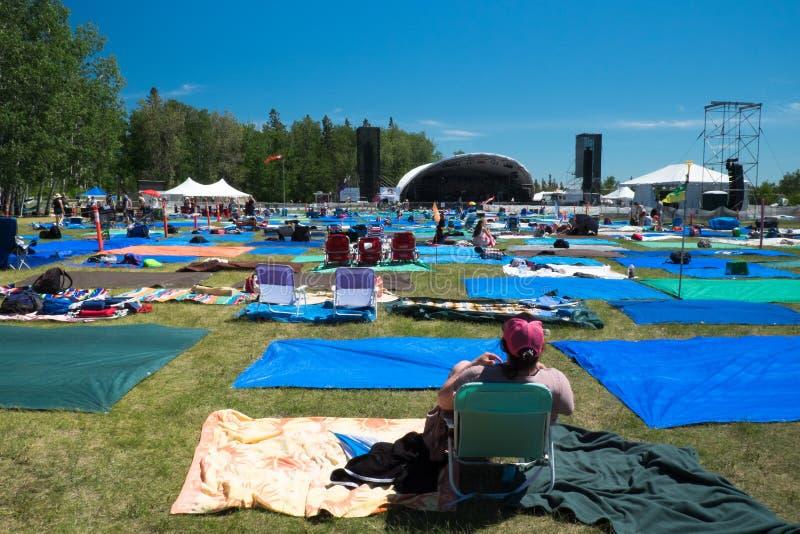 'Tarpstads'Winnipeg Folk festival Juli 2019 fotografering för bildbyråer