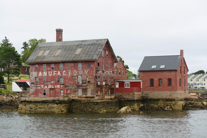 Paint Factory, Gloucester, Massachusetts. Tarr and Wonson Paint Manufactory is one of the most famous landmarks on the North Shore Massachusetts in Gloucester stock images