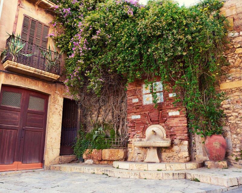 塔拉贡纳老Tarraco街道在加泰罗尼亚 图库摄影