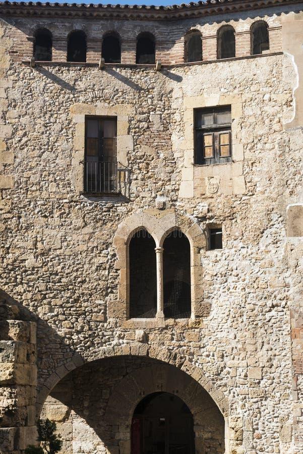 Tarragona Ισπανία: γοτθικά κτήρια στοκ εικόνες
