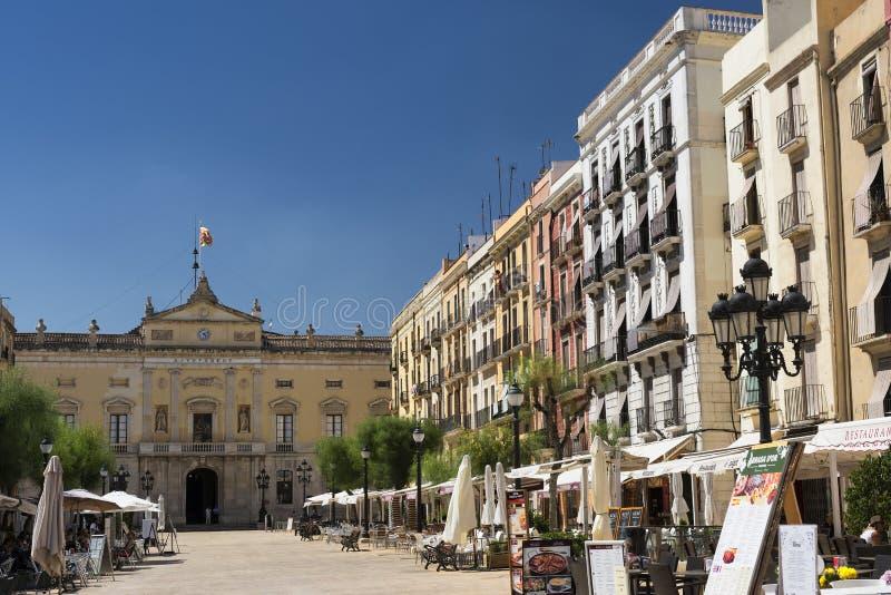 Tarragona Ισπανία: ιστορικά κτήρια στοκ εικόνες