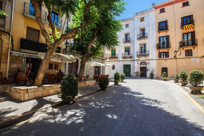 Tarragona οδός στη μεσημβρία στοκ φωτογραφία με δικαίωμα ελεύθερης χρήσης