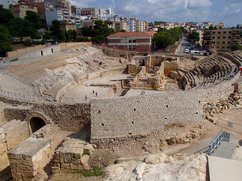 Tarragona amfiteater royaltyfria bilder