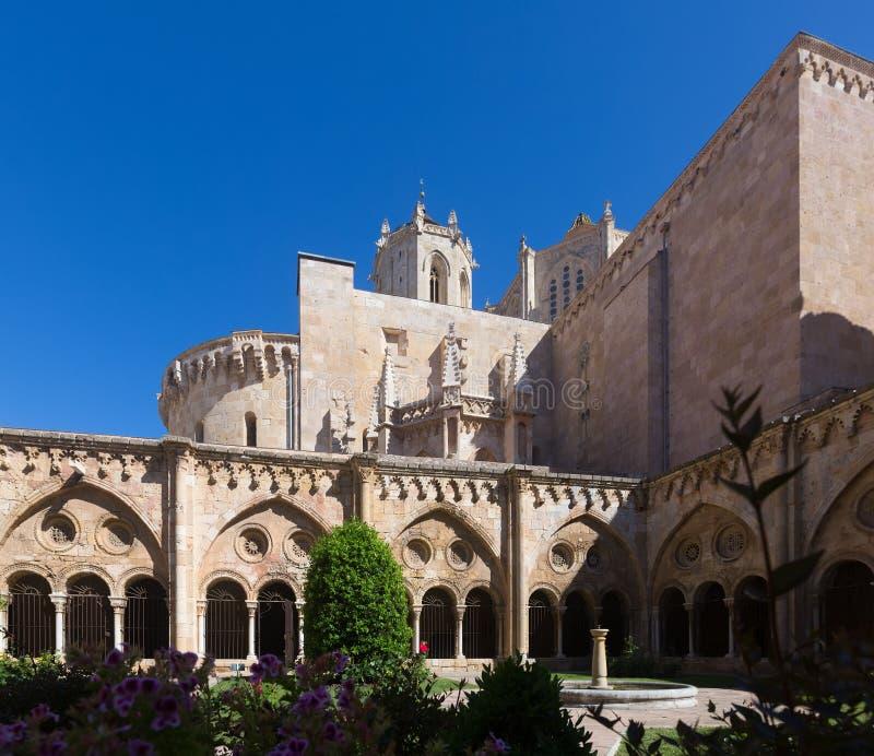 Tarragona Kathedraal van gotisch klooster stock afbeeldingen