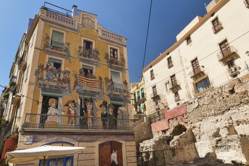 Tarragona & x28 Spain& x29: παλαιά οδός στοκ φωτογραφία με δικαίωμα ελεύθερης χρήσης