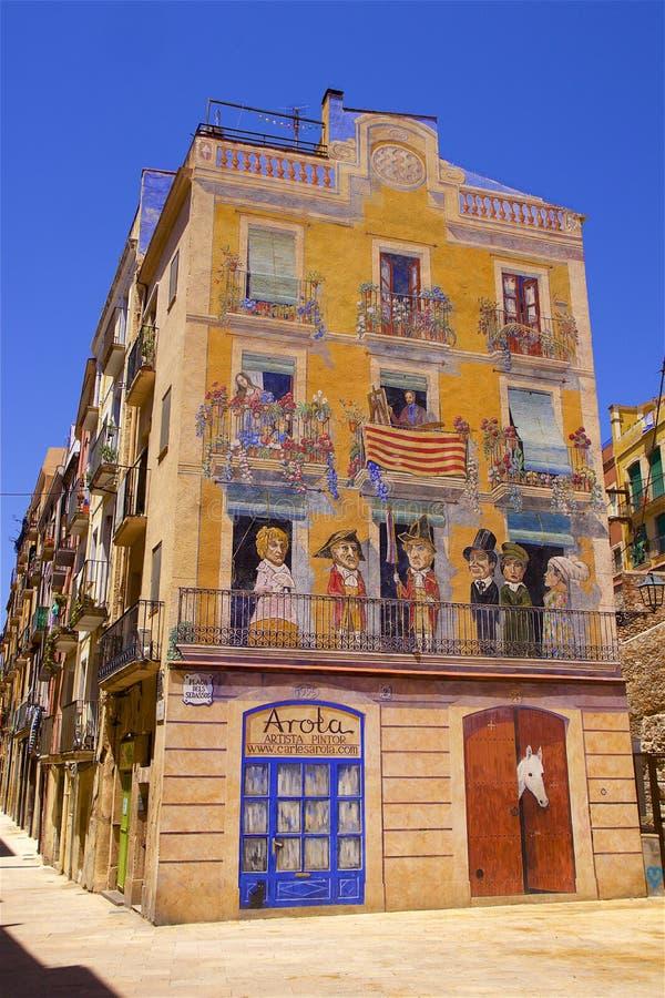 Tarragona-Straßen, Spanien stockfotografie