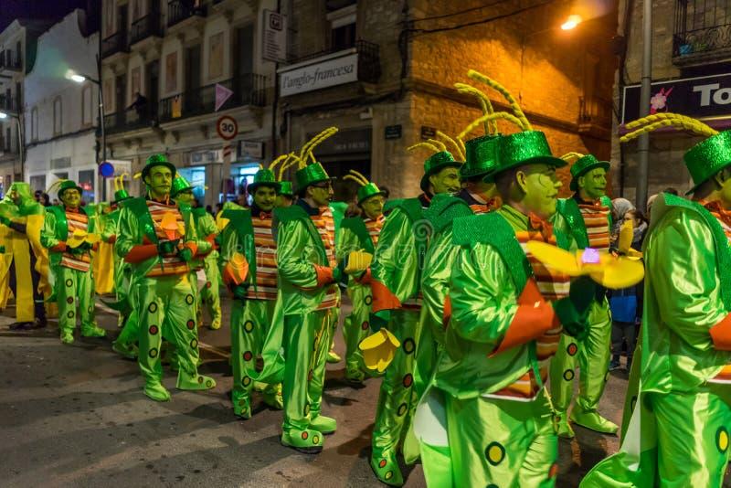 Carnaval fiesta in Spain royalty free stock photos
