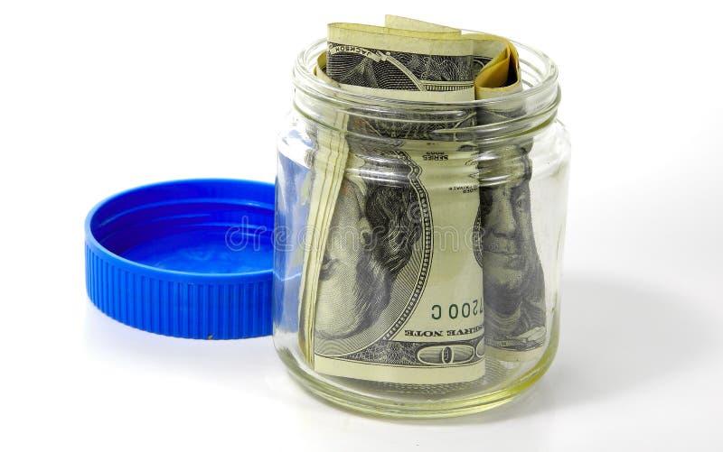 Tarro 3 del dinero fotografía de archivo