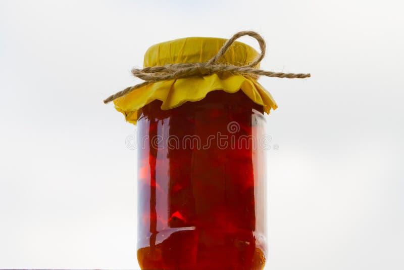 Tarro anaranjado de Marmelade fotos de archivo libres de regalías
