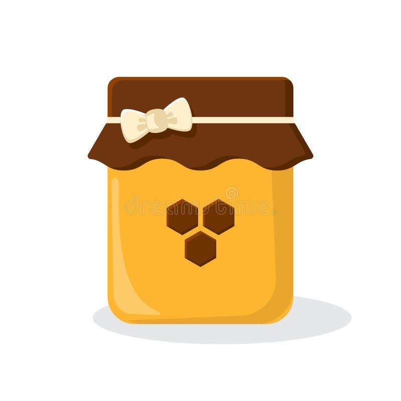 Tarro coloreado de la miel Ilustración del vector ilustración del vector