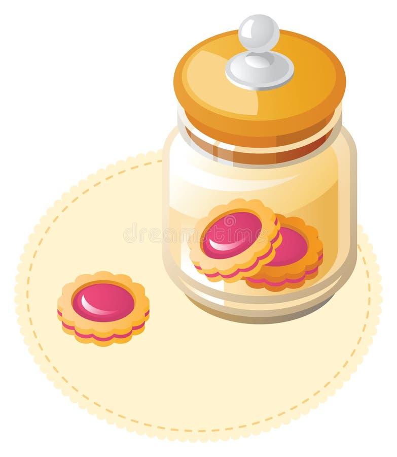 Tarro con las galletas ilustración del vector