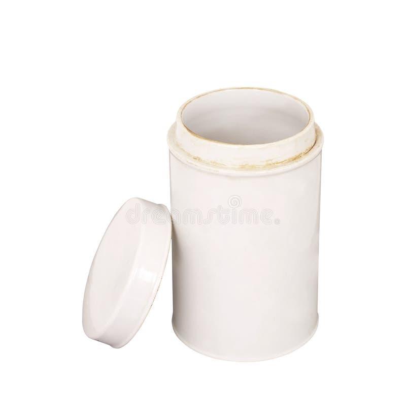 Tarro de cerámica aislado en blanco foto de archivo libre de regalías