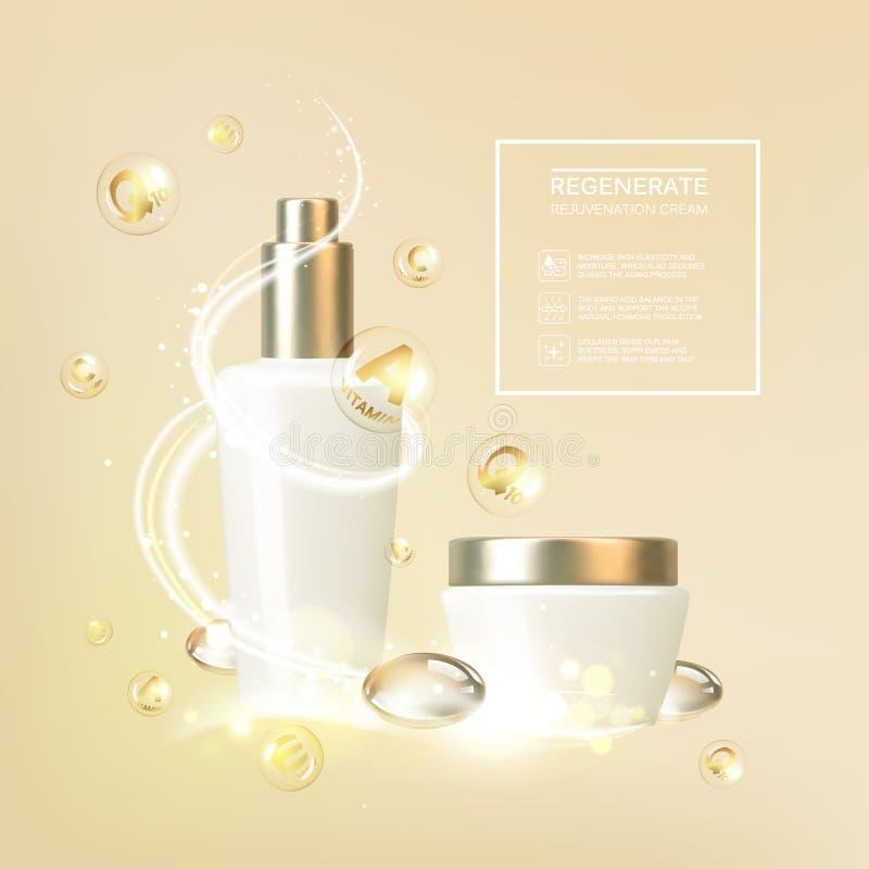 Tarro de crema stock de ilustración