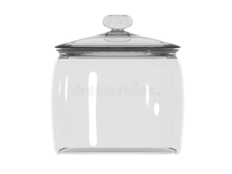 Tarro de cristal cerrado ilustración del vector