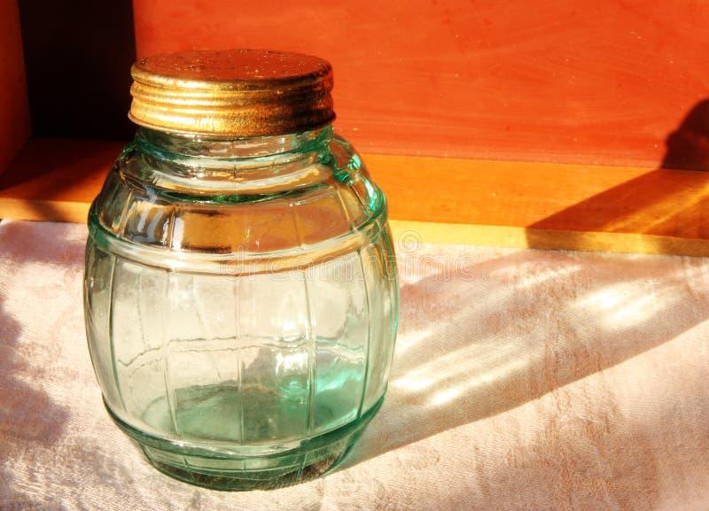 Tarro de cristal viejo fotografía de archivo
