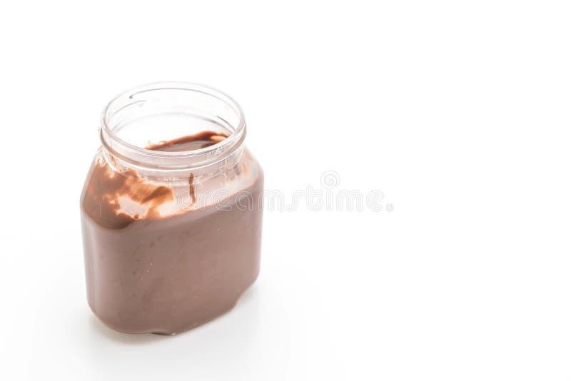 tarro de la extensión de la avellana del chocolate imagen de archivo libre de regalías
