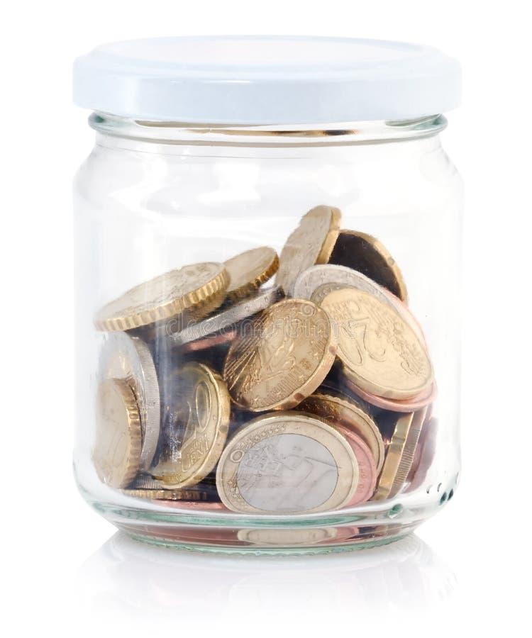 Tarro de la moneda foto de archivo