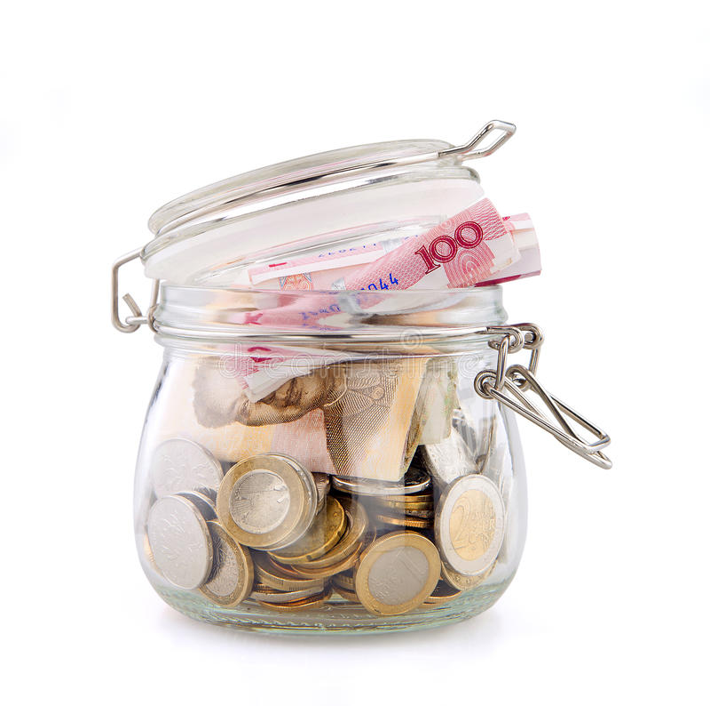 Tarro del dinero fotografía de archivo