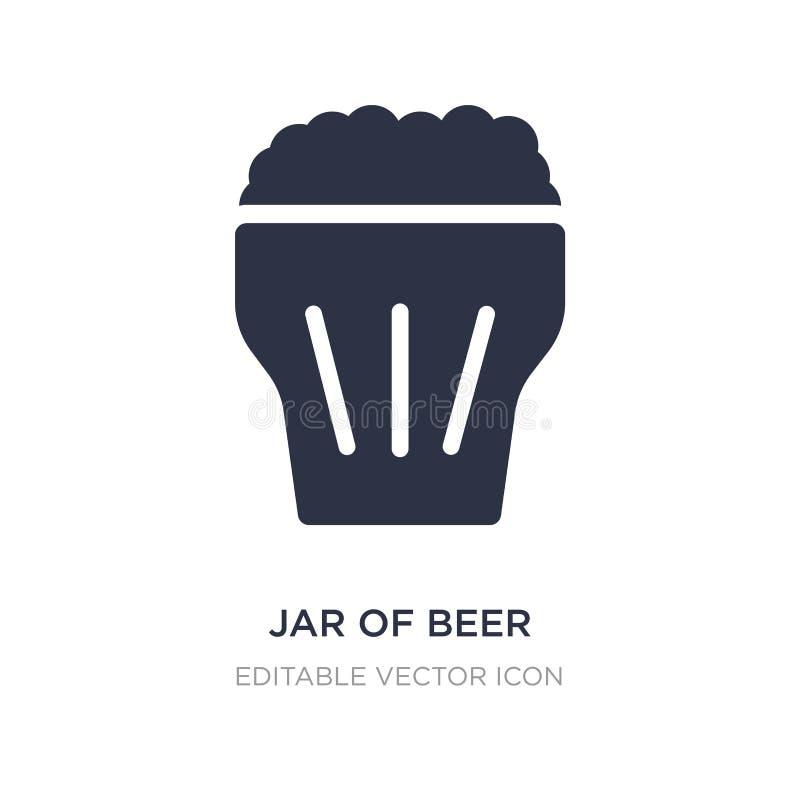 tarro del icono de la cerveza en el fondo blanco Ejemplo simple del elemento del concepto de la comida ilustración del vector
