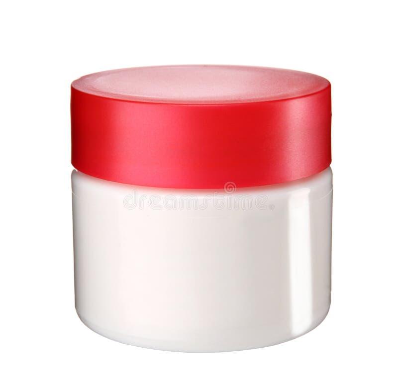 Tarro para la crema cosmética fotografía de archivo