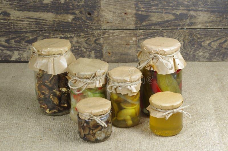 Tarros de cristal imagen de archivo libre de regalías