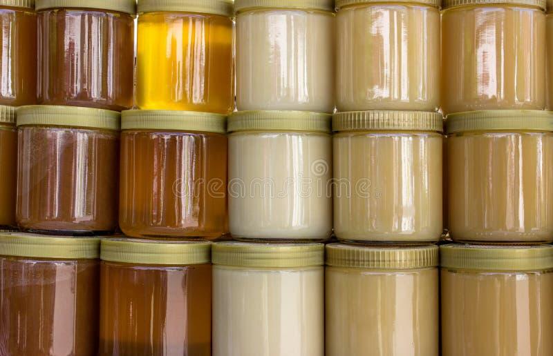 Tarros de la miel foto de archivo