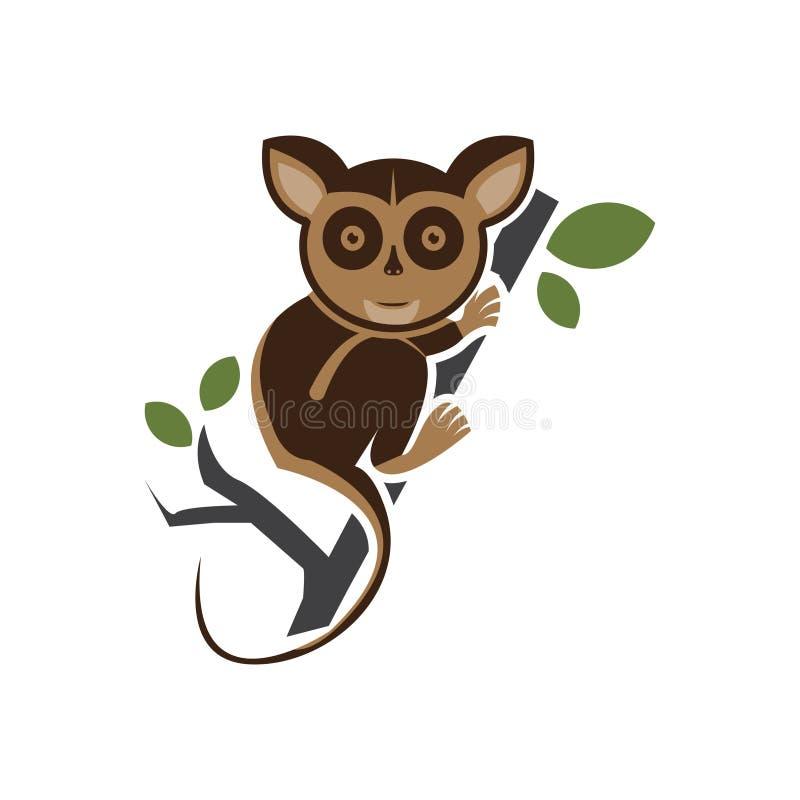 Tarsius vector Animal Character. Vector Illustration Isolated on White stock illustration