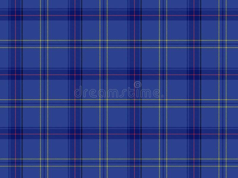 Tartán escocés azul stock de ilustración
