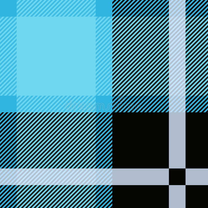 Tartã azul, teste padrão sem emenda da manta Manta Textured ilustração royalty free