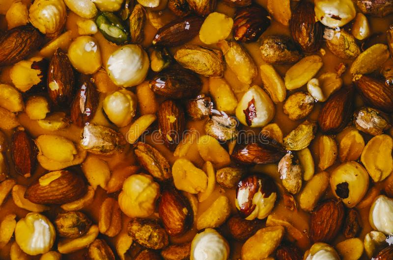 Tart With Nuts royalty free stock image