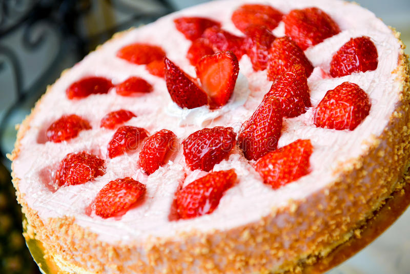 Download Tart With Strawberries And Whipped Cream Stock Photo - Image of fruit, strawberries: 83702226