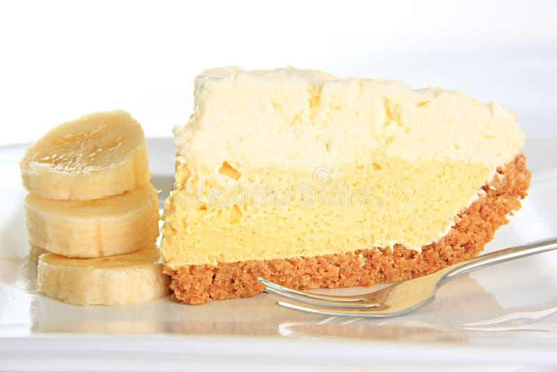 Tarta de crema del plátano imagen de archivo
