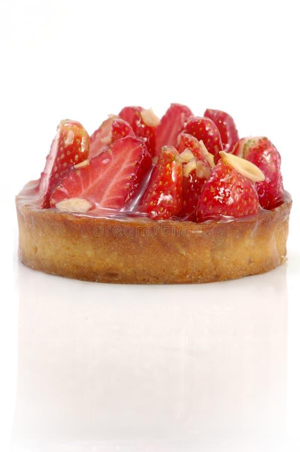 Tarta De La Fresa Y De La Almendra Imagen de archivo