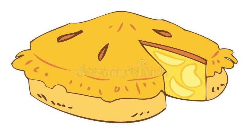 Tarta de la manzana de la abuela. libre illustration