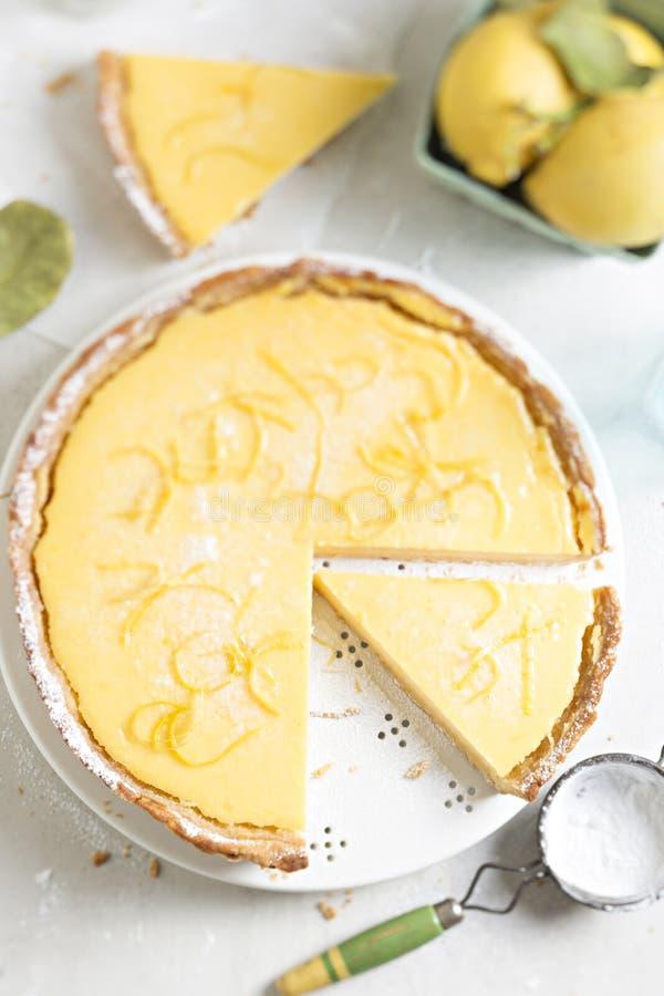 Tarta del limón imagenes de archivo