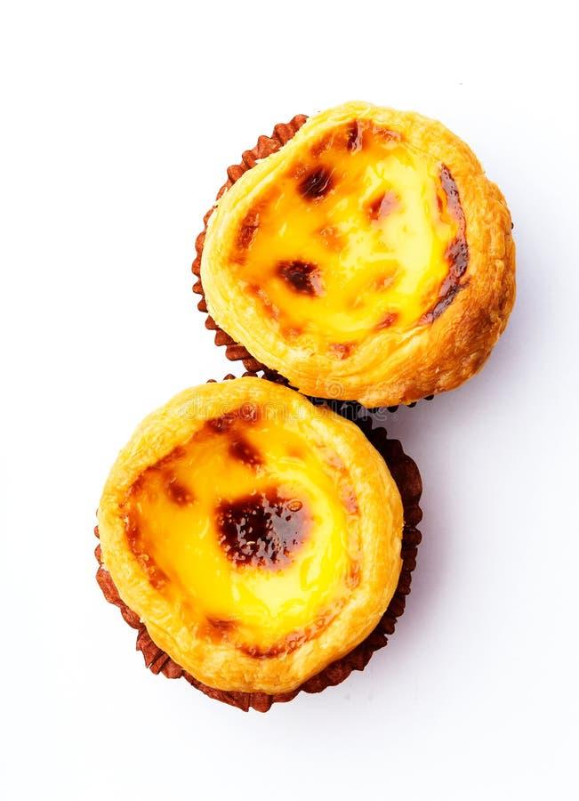 Tarta portuguesa del huevo imagen de archivo libre de regalías